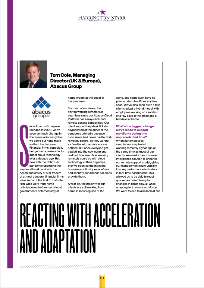 FTF magazine - Tom Cole article - page 1