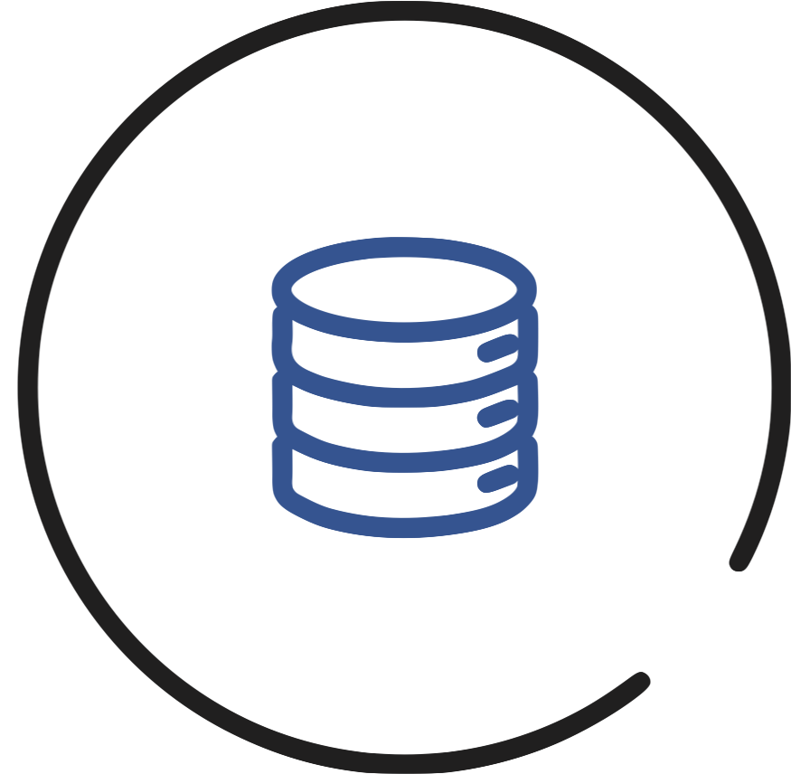 data hosted icon