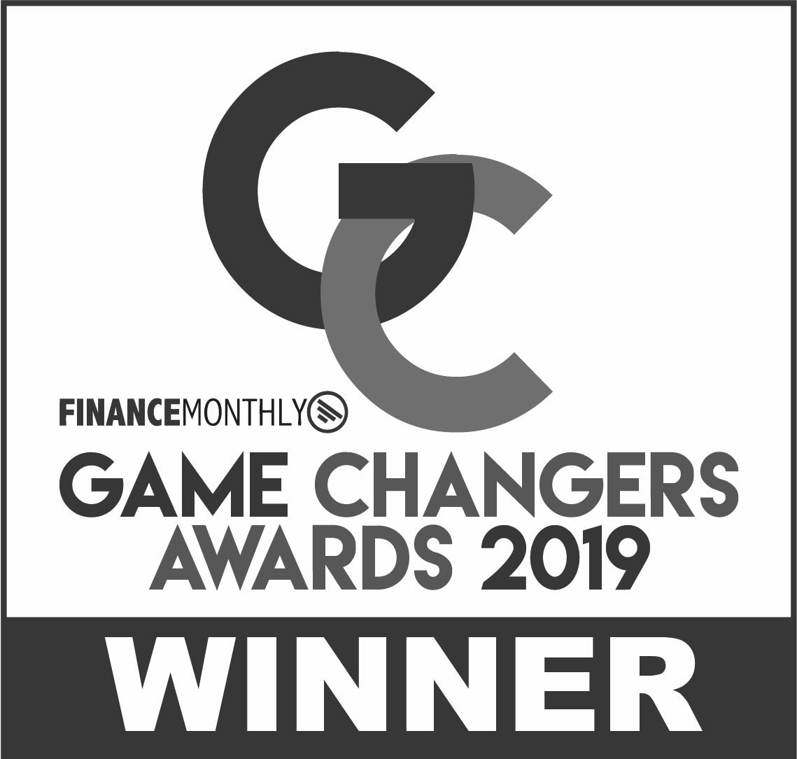 2019 Finance Monthly Game Changers Awards 2019 Winner Logo (Greyscale)